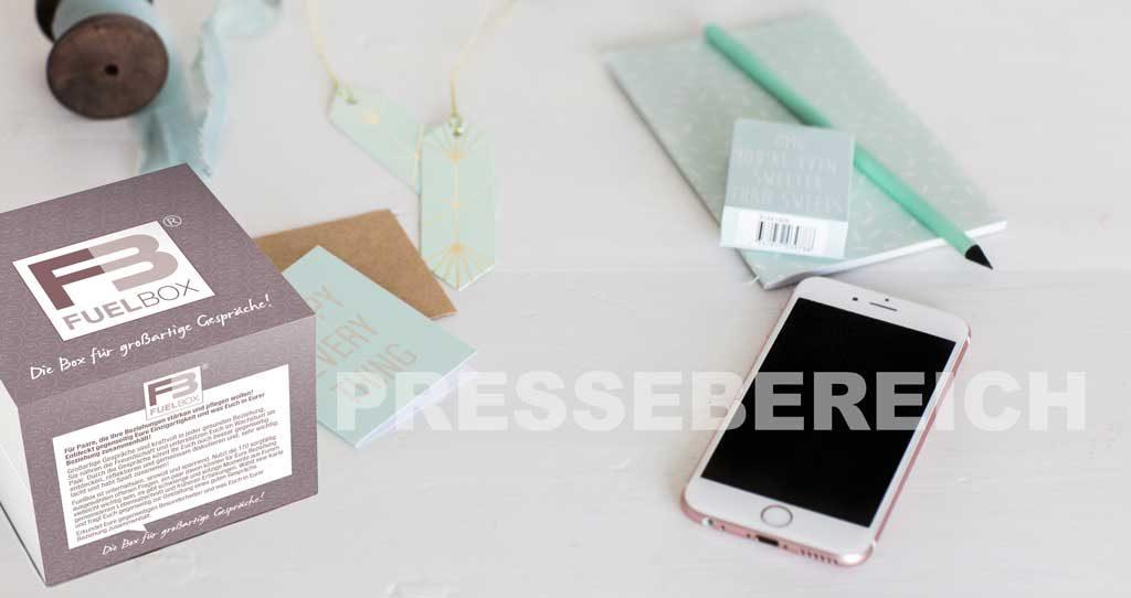 Pressebereich: Presse / Blogger FuelBox