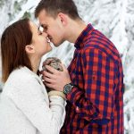 Paar am Valentinstag